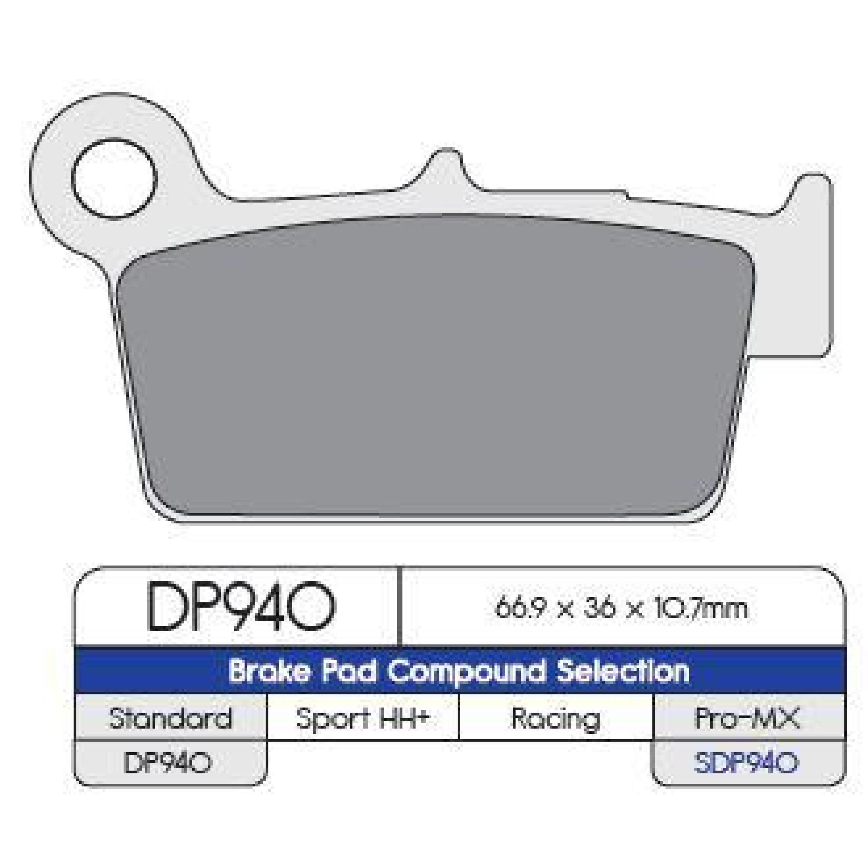 Bromsbelägg BAK DP-Brakes