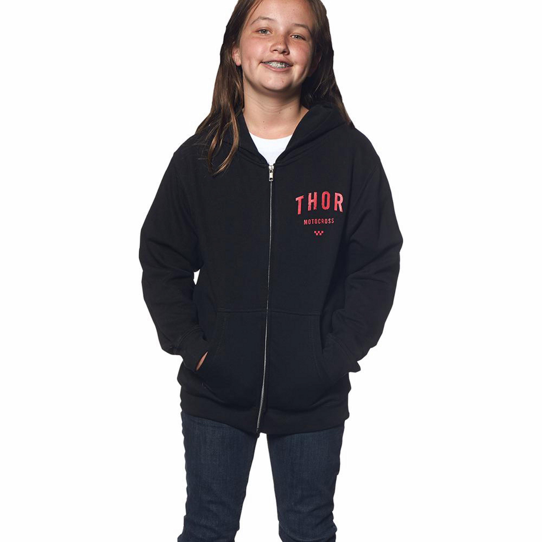 Thor Fleecetröja Barn Zip Shop 2016 Svart