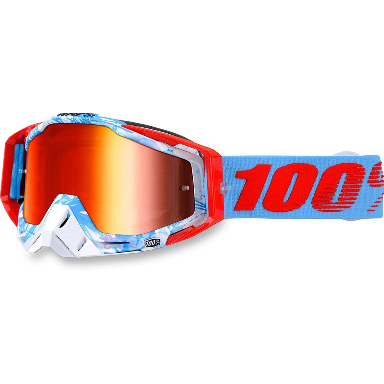 100% Crossglasögon Racecraft Bobora Blå/Röd/Vit