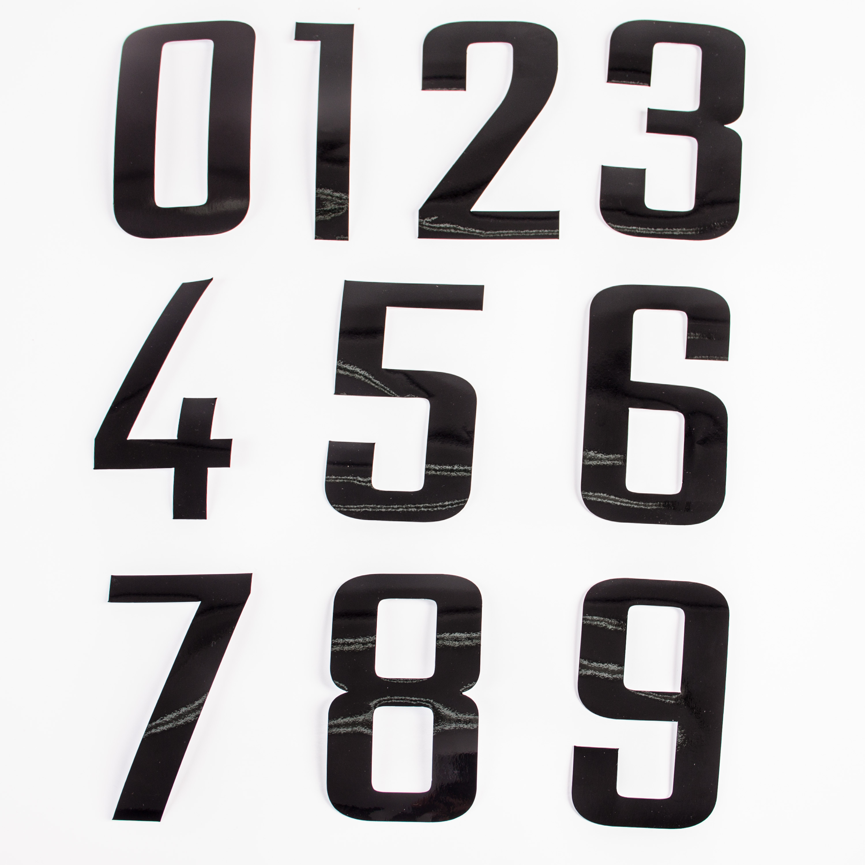 Siffror 3st 14,5cm Svart Standard