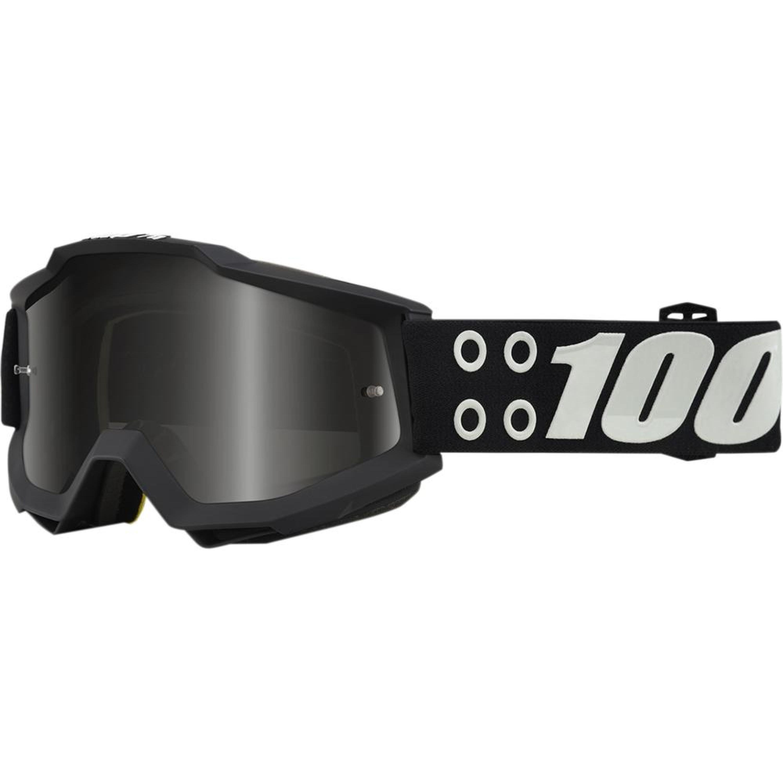 100% Crossglasögon Accuri Defcon1 Svart/Vit - Svart