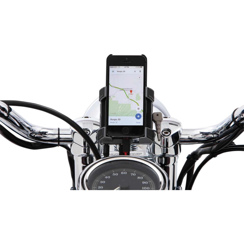 Mobil/GPS-Hållare för 7/8 tum och 1 tum styren ink. laddning CIRO