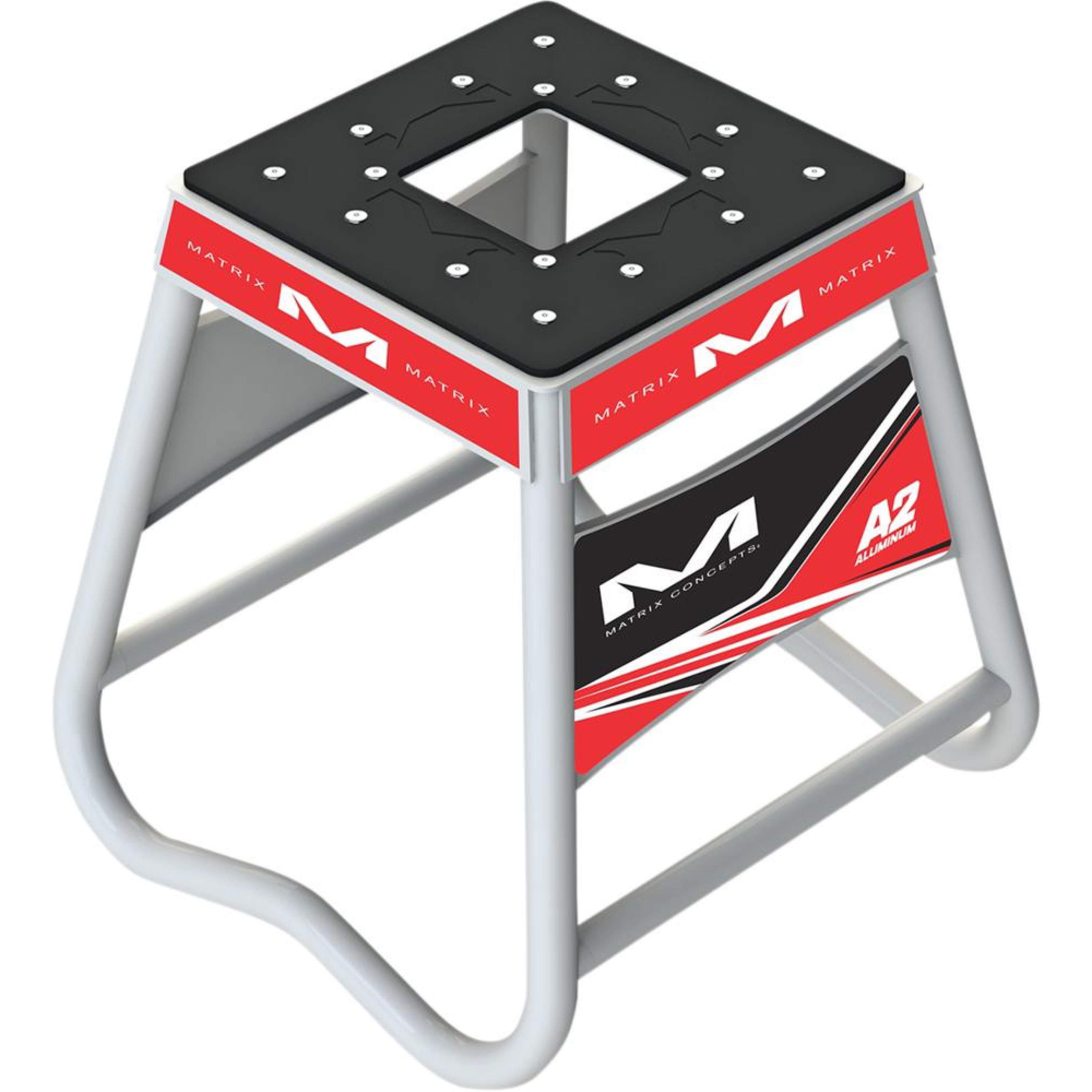 STAND A2 ALUM RED/WHT