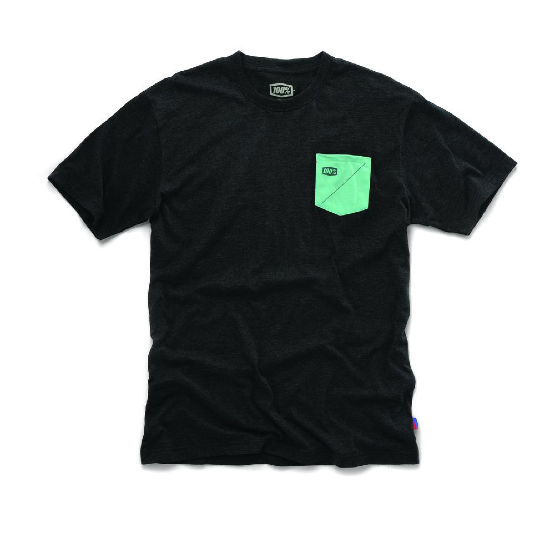 100% T-Shirt Cordova Solid Heather Charcoal