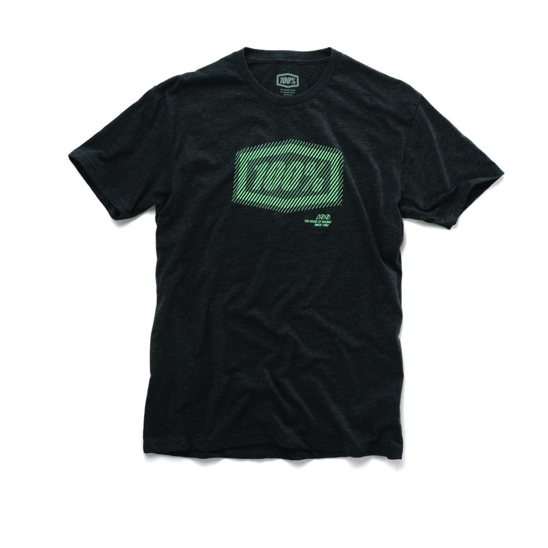 100% T-Shirt Static Grå/Vit