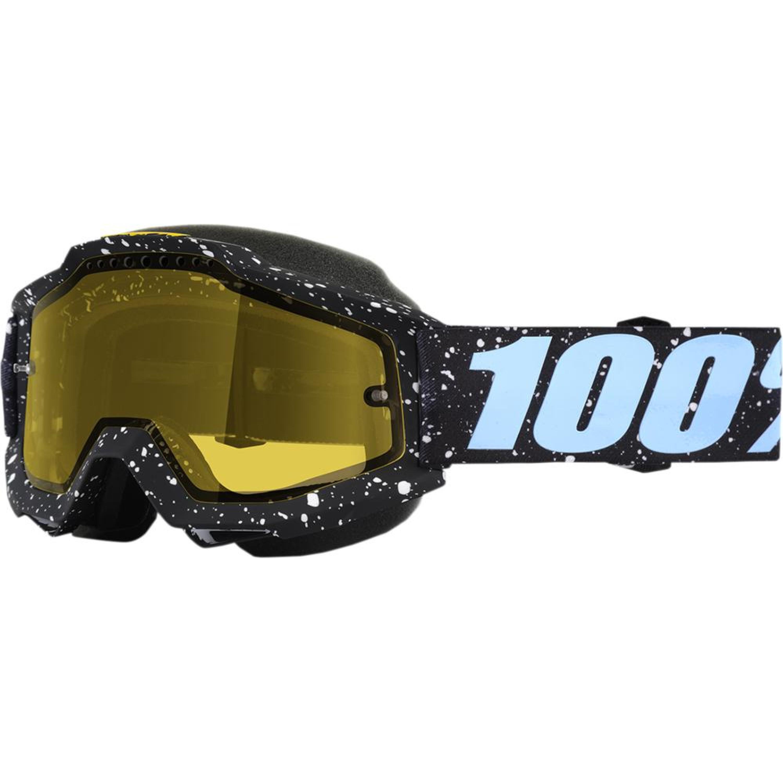100% Skoterglasögon Accuri Milkyway Svart/Blå - Gul