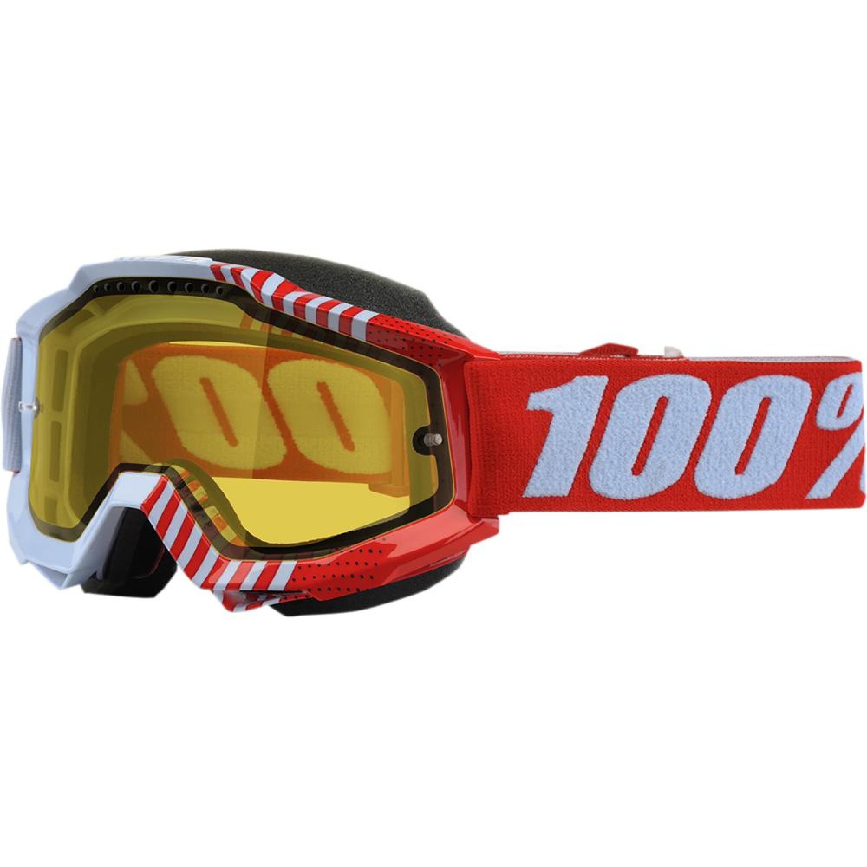 100% Skoterglasögon Accuri R-Core Röd/Blå - Gul