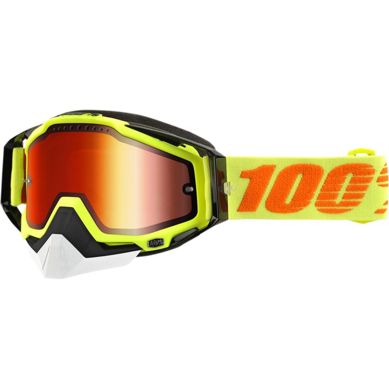 100% Skoterglasögon Racecraft Svart/Gul - Orange