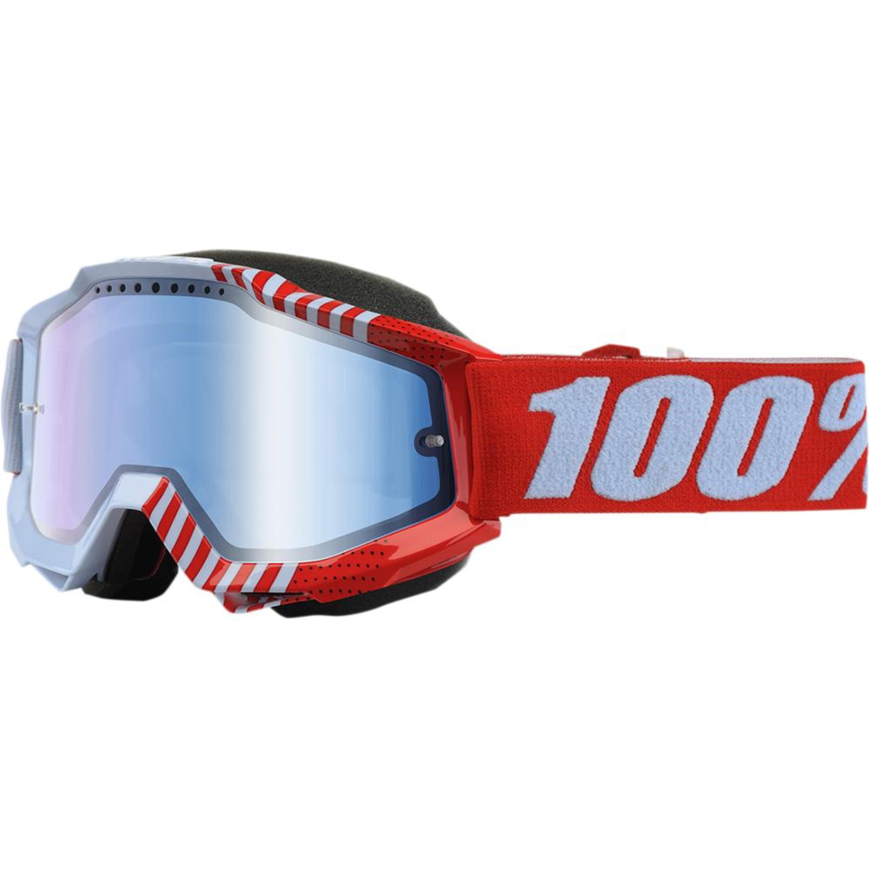100% Skoterglasögon Accuri R-Core Röd/Blå - Blå