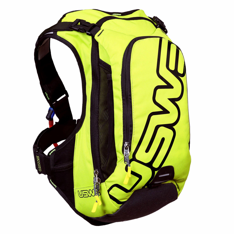 USWE Vätskesystem F6 PRO Hydropack, 15L väska, Svart/Gul