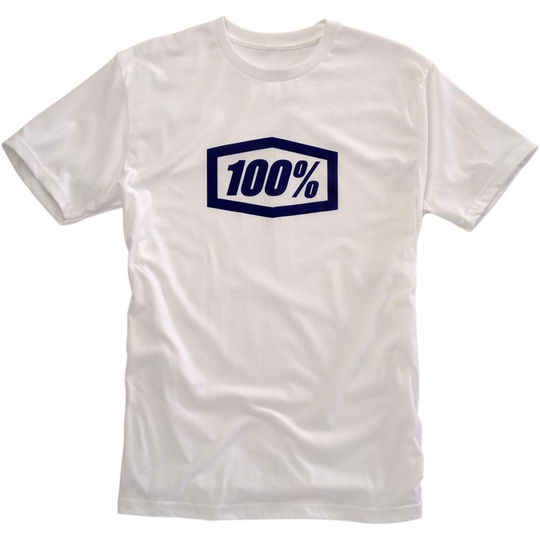 100% T-Shirt Essential Blå/Vit