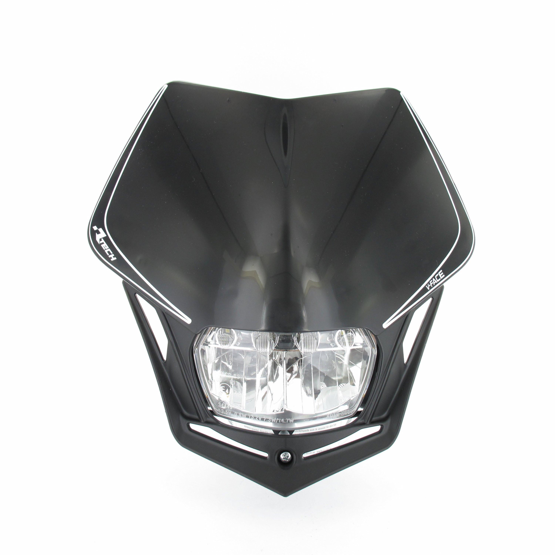 Rtech, Headlight V-Face FULL LED Svart, SVART