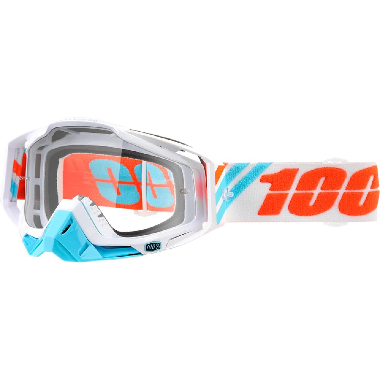 100% Crossglasögon Racecraft Calculus 2018 Orange/Blå Klar