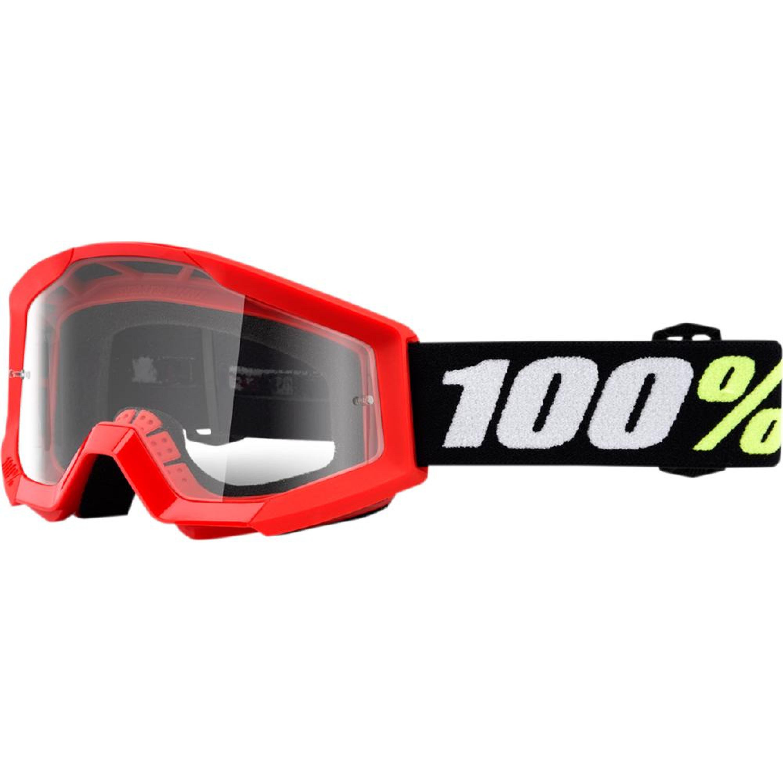 100% Crossglasögon Barn upp till 6 år Strata Mini 2018 Svart/Röd Klar