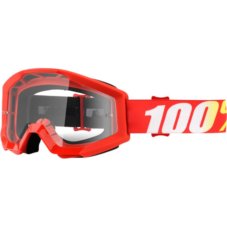 100% Crossglasögon Strata Furnace 2018 Röd Klar