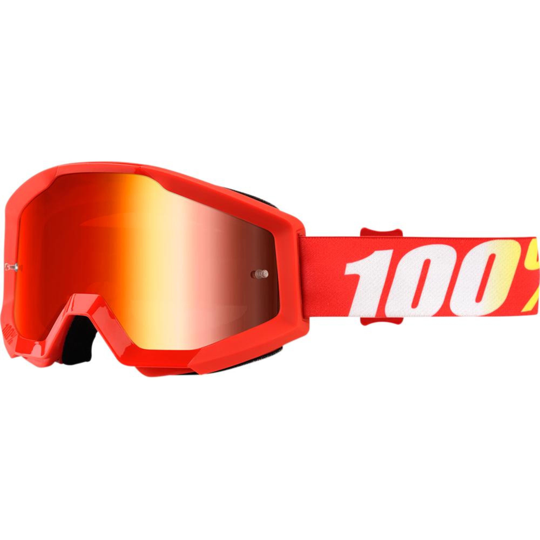 100% Crossglasögon Strata Furnace 2018 Röd Spegel