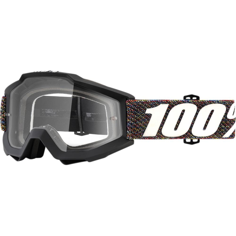 100% Crossglasögon Accuri Krick 2018 Svart/Vit Klar