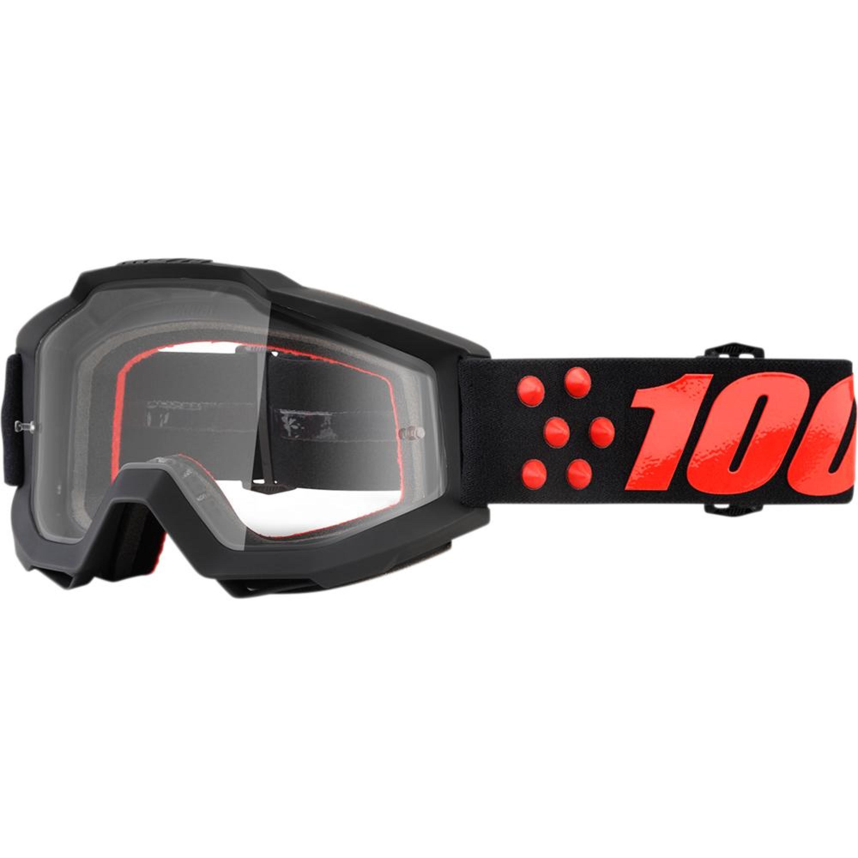 100% Crossglasögon Accuri Gernica 2018 Svart/Röd Klar