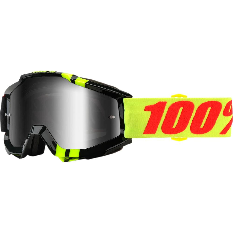 100% Crossglasögon Accuri Zerbo 2018 Svart/Gul Spegel