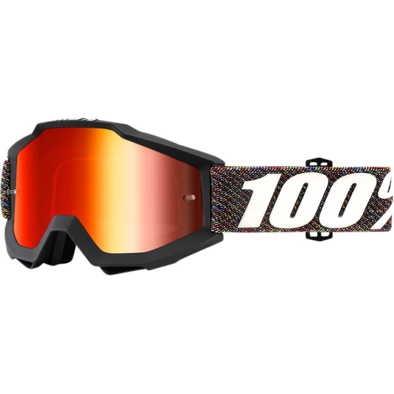 100% Crossglasögon Accuri Krick 2018 Svart Spegel