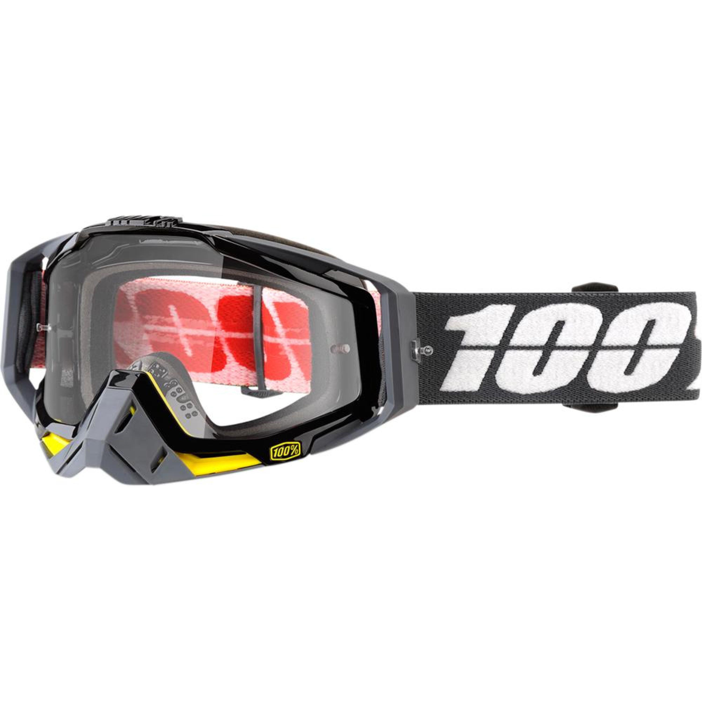100% Crossglasögon Racecraft Fortis 2018 Svart Klar