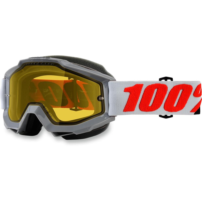 100% Skoterglasögon Accuri 2018 Vit Klar