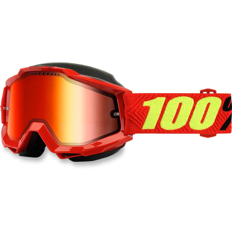 100% Skoterglasögon Accuri 2018 Röd Spegel
