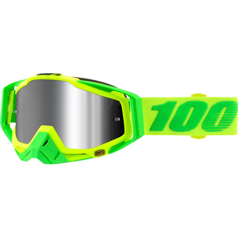 100% Crossglasögon Racecraft+ 2018 Gul/Grön Spegel