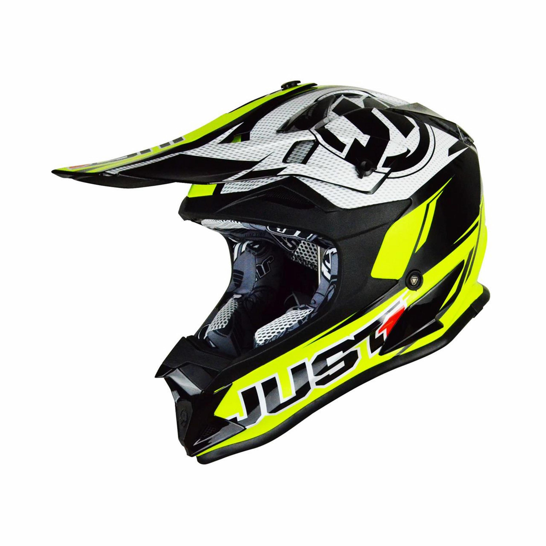 Just1 Crosshjälm J32 Race Neon Gul / Svart