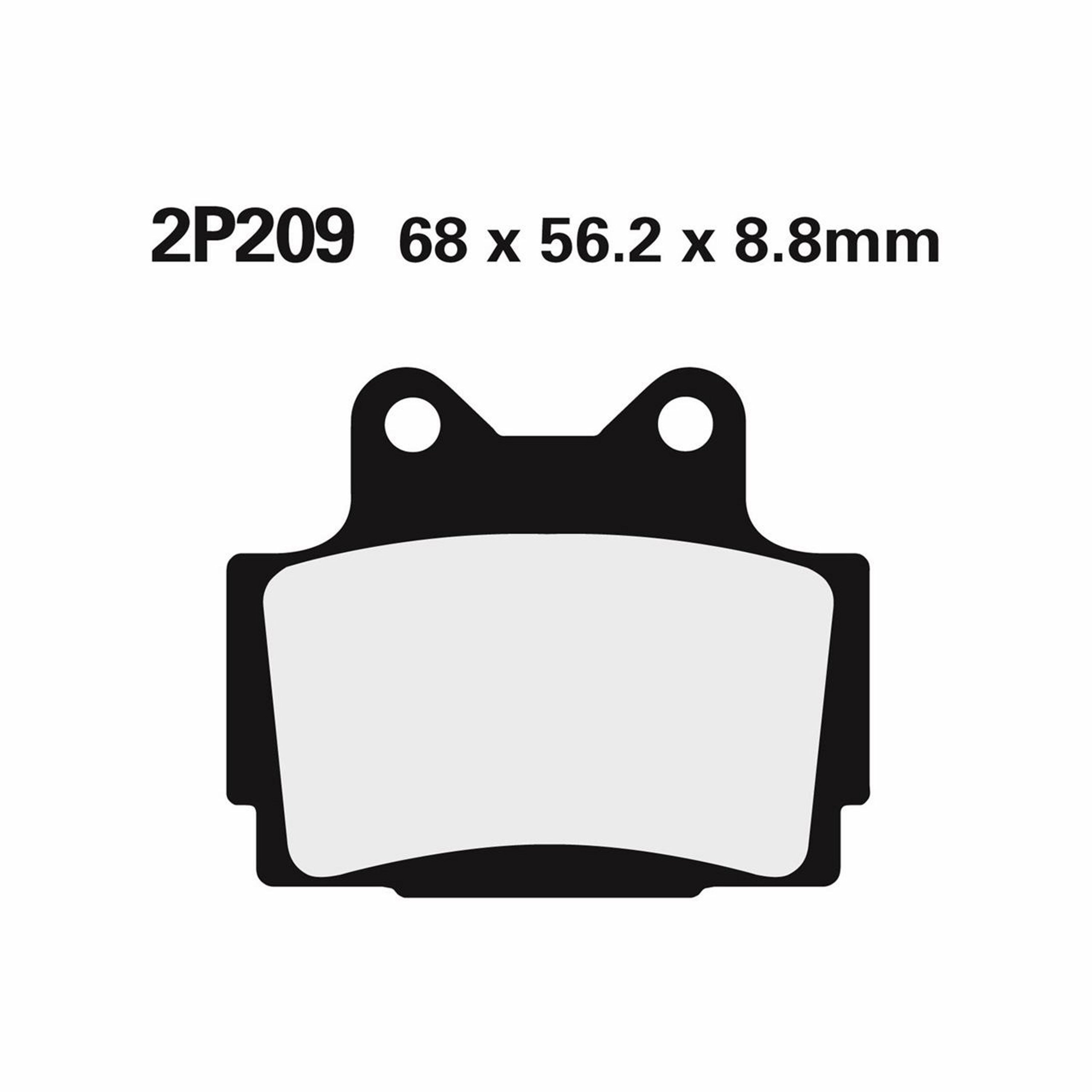BRAKE PADS NISSIN | TYPE 2P-209GS | SEMI - METALIC