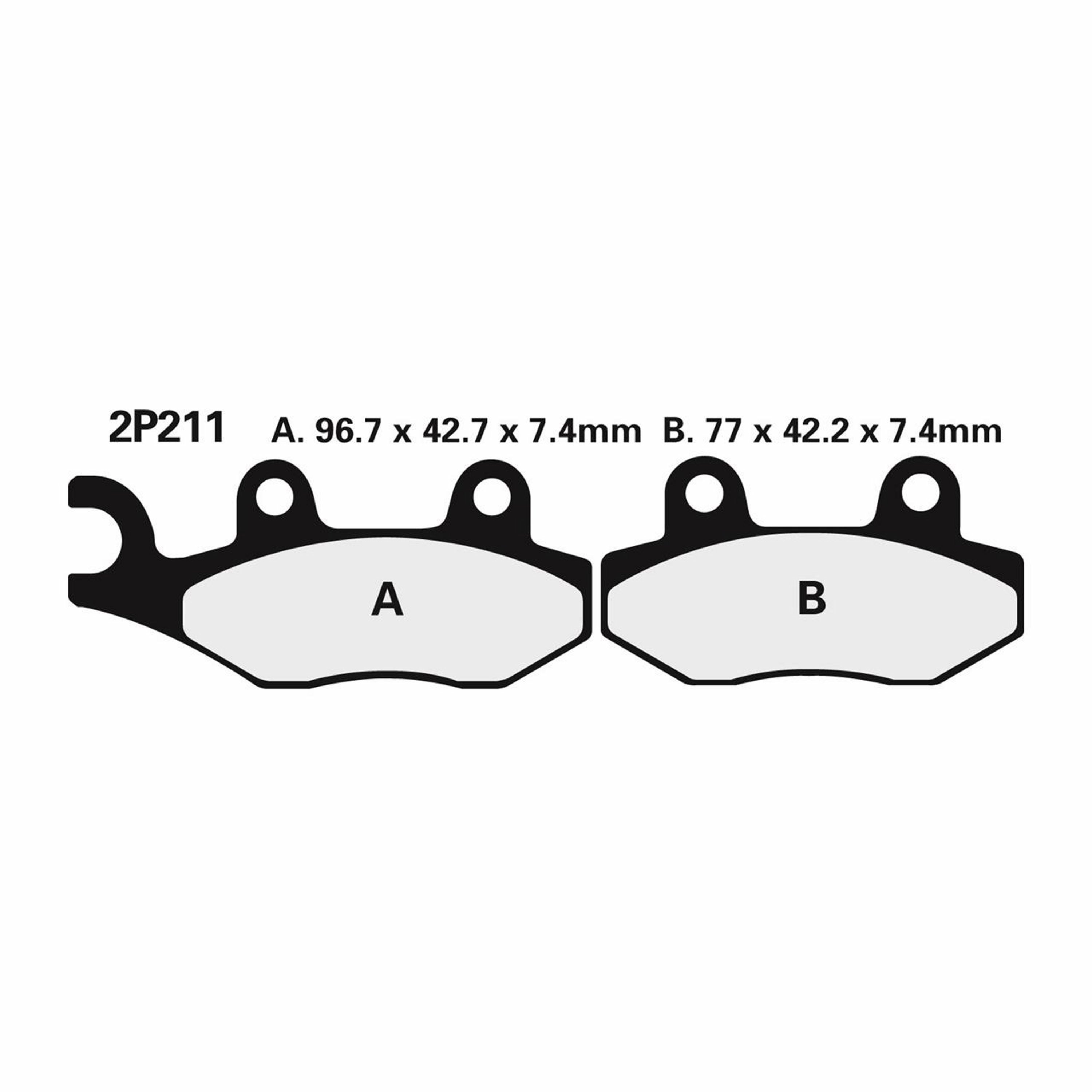 BRAKE PADS NISSIN | TYPE 2P-211NS | SEMI - METALIC