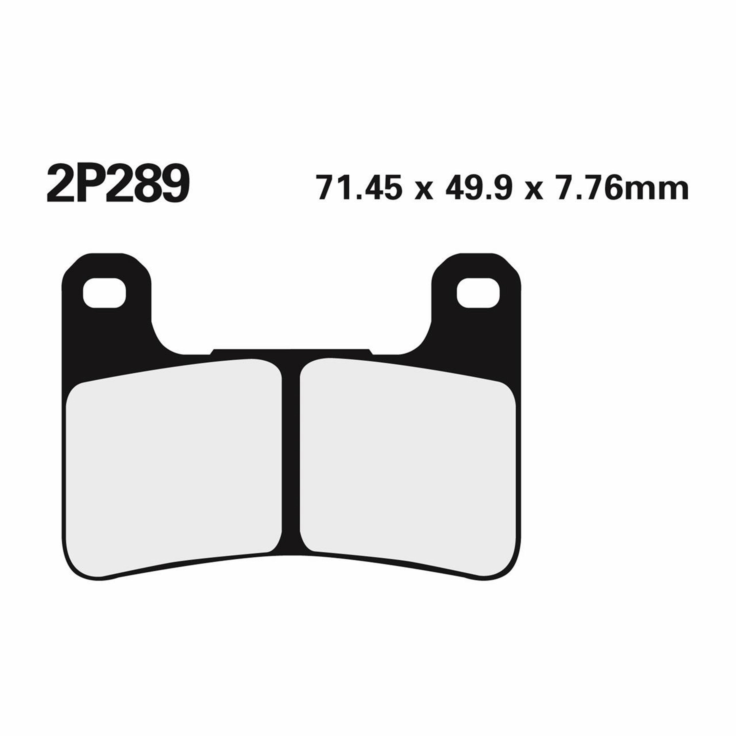 BRAKE PADS NISSIN | TYPE 2P-289ST | SINTERED