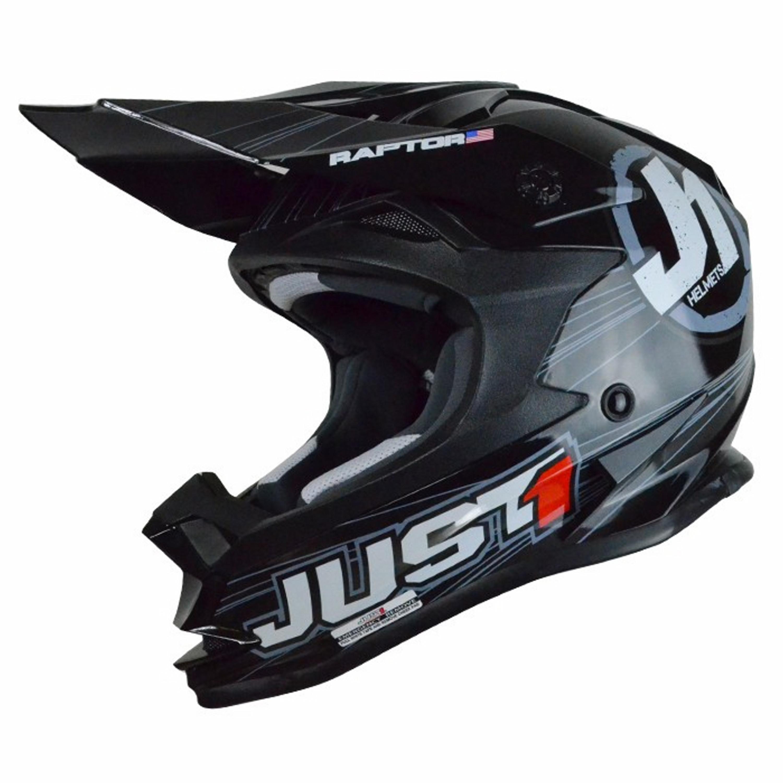 HELMET JUST1 J32 | RAPTOR JR MT.BLK | SIZE YS