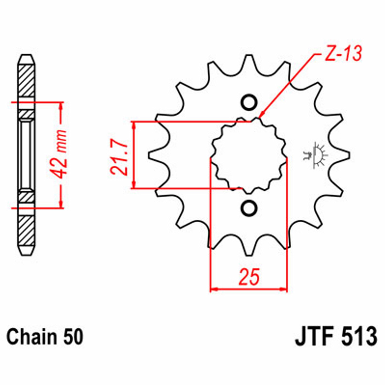 JT FRONT SPROCK. 14 TEETH | STEEL