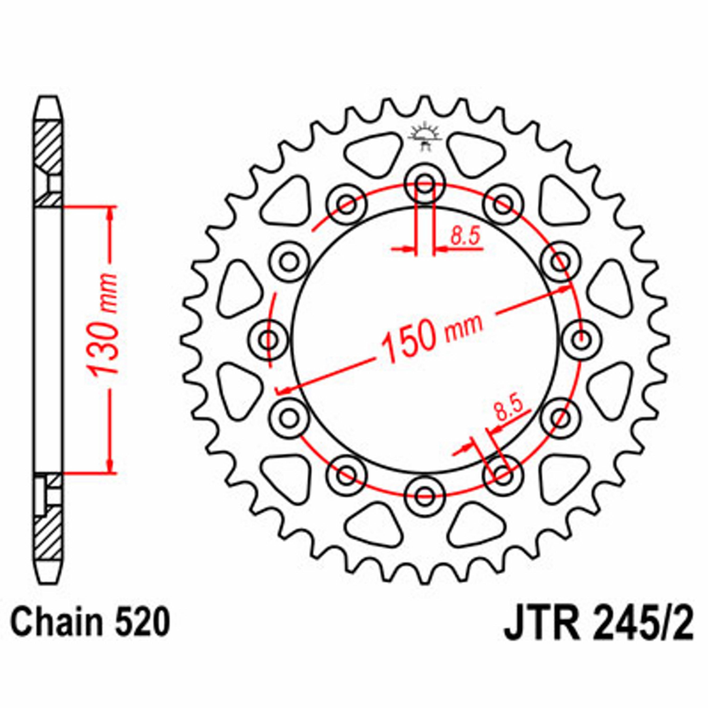 JT REAR SPROCKET 40 TEETH | STEEL