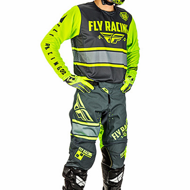 FLY Crosskläder Kinetic Era 2018 Grå/Hiviz/Gul