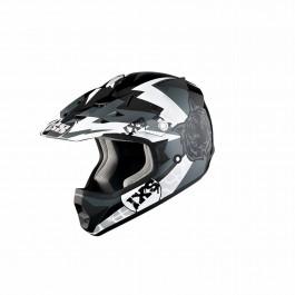 IXS Barnhjälm HX 278 Tiger Svart/Silver/Vit