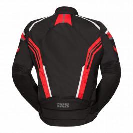 IXS Textiljacka RS-400-ST Svart/Vit/Röd