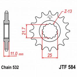 JT FRONT SPROCK. 16 TEETH | STEEL