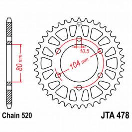 JT REAR SPROCKET 42 TEETH | ALUMINIUM