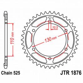 JT REAR SPROCKET 45 TEETH | STEEL