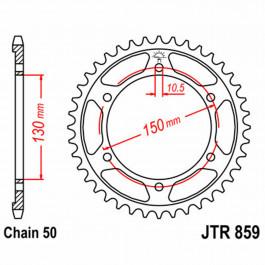 JT REAR SPROCKET 48 TEETH | STEEL