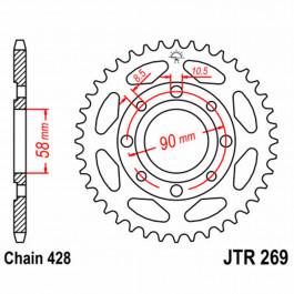 JT REAR SPROCKET 49 TEETH | STEEL