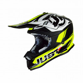 Just1 Crosshjälm J32 Race Neon Gul / Svart
