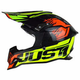 JUST1 Helmet J12 Dominator Neon Lime-Red 60-L