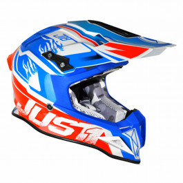 JUST1 Helmet J12 Dominator White-Red-Blue 58-M