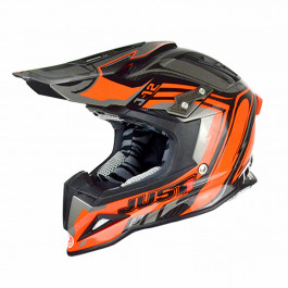 JUST1 Helmet J12 Flame Black-Orange 60-L