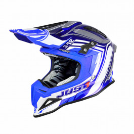 JUST1 Helmet J12 Flame Blue 58-M