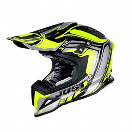 JUST1 Helmet J12 Flame Yellow-Black 58-M