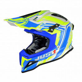 JUST1 Helmet J12 Flame Yellow-Blue 58-M